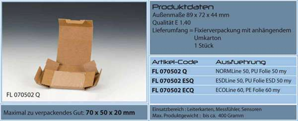 Fixierverpackung Emba-Quick® 70x50x20 mm