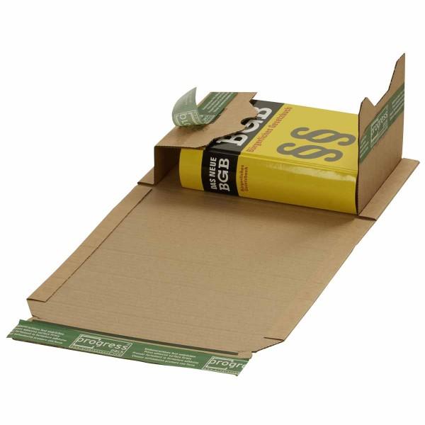Buchverpackungen mit ExtraSAFE Verschluß 249x165x-60 mm