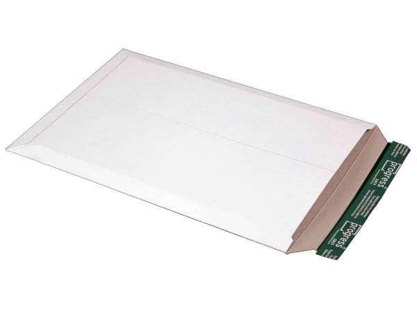 Versandtasche Vollpappe weiß 309x447x-30 mm