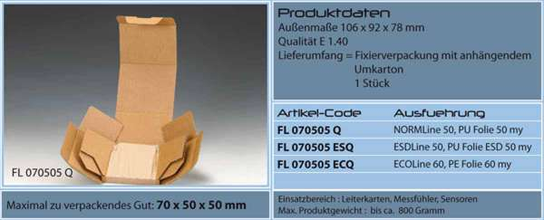 Fixierverpackung Emba-Quick® 70x50x50 mm