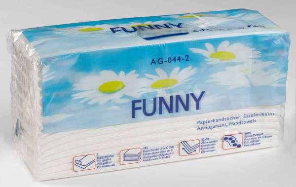 Papierhandtücher 2-lagig C-Falz Zupfbox