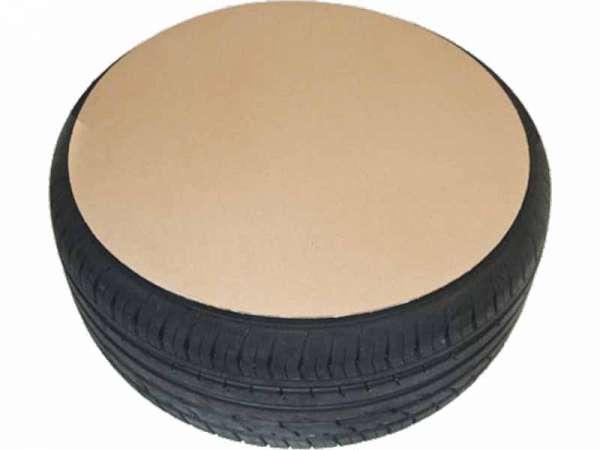 Wellpappe Zuschnitt rund zum Schutz für Autoreifen und Felgen