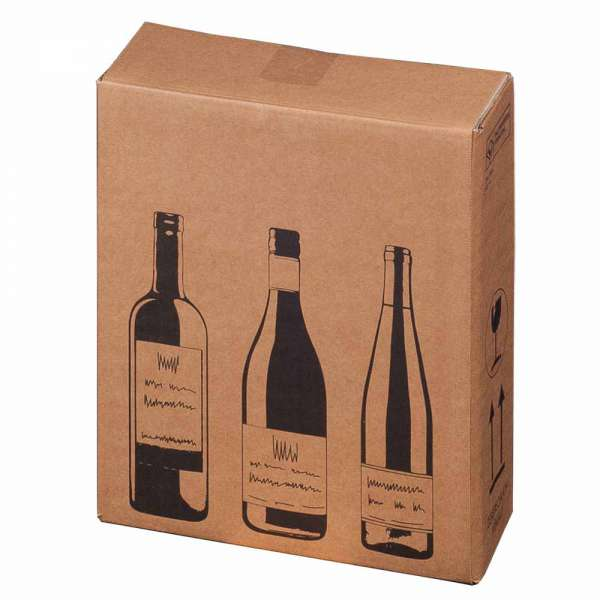 Flaschenkartons 3er 305x108x368 mm