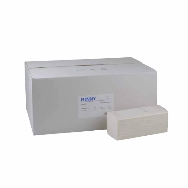 Papierhandtücher 2-lagig Zellstoffpapier weiss ZZ/V-Falz