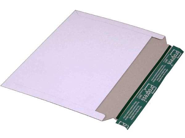Versandtasche Vollpappe weiß 348x246 mm