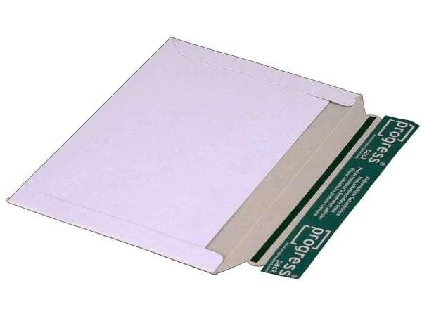 Versandtasche Vollpappe weiß 246x172 mm