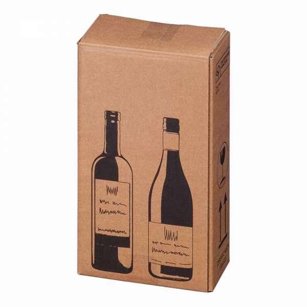 PTZ-Flaschenkarton für 2 Flaschen