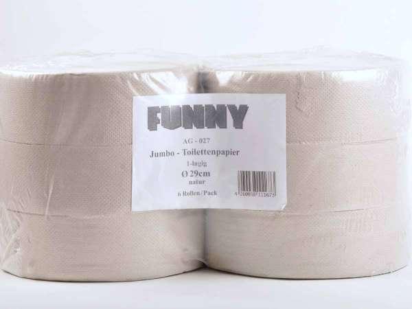 Jumbo-Toilettenpapier 1-lagig hellgrau recycling ø 28 cm