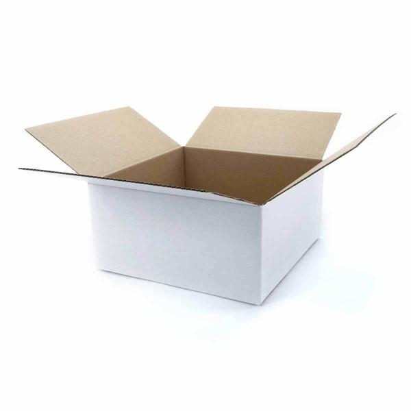 Faltkartons 300x300x150 mm 1-wellig weiß