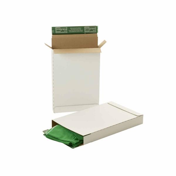 Briefbox Premium weiß Maxibrief DIN A4 345x245x45 mm