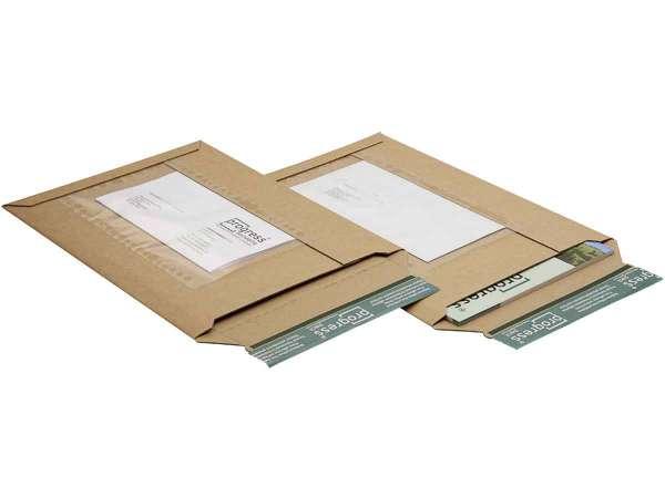 Versandtaschen Wellpappe mit Dokumententasche 235x337x-35 mm