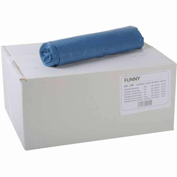 Müllbeutel 35 Liter LDPE-Regenerat blau 480x650 mm