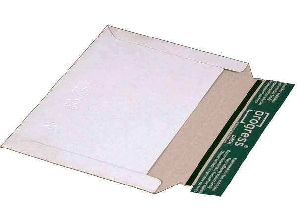 Versandtasche Vollpappe weiß 225x160 mm