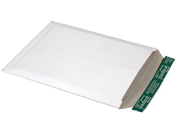 Versandtasche Vollpappe weiß 285x365x-30 mm