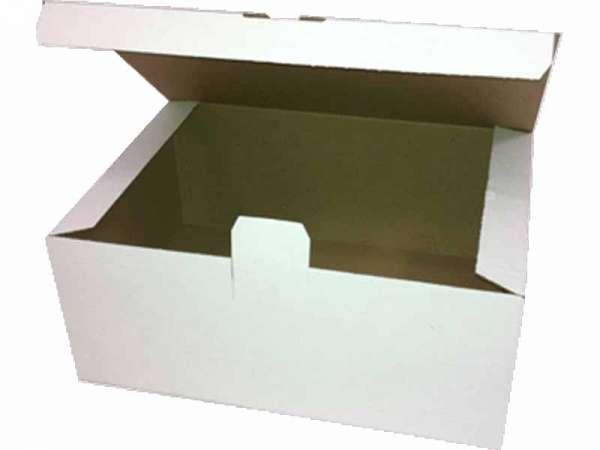Faltschachtel 305x215x125 mm weiß mit Automatikboden