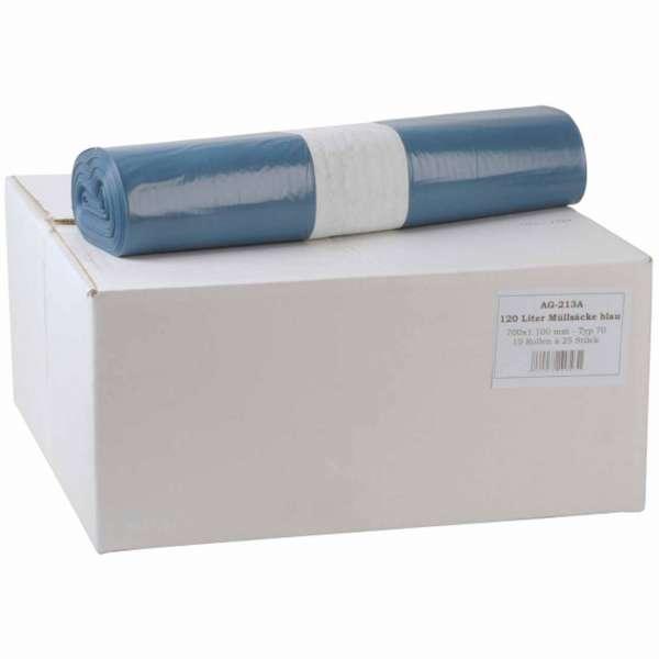 Müllsäcke 120 Liter LDPE-Regenerat Typ 70 blau