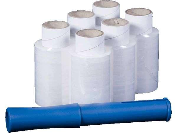 Bündelstretchfolie-Set 17 µ 100 mm breit 150 lfm
