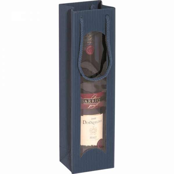 Tragetasche für eine Weinflasche saphir