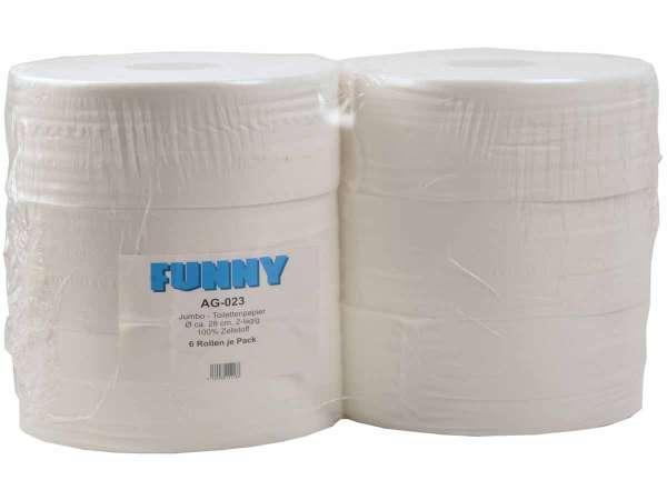 Jumbo-Toilettenpapier 2-lagig hochweiss ø 28 cm