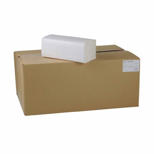 Papierhandtücher 1-lagig ZZ/V-Falz hochweiss