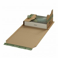 Buchverpackungen mit ExtraSAFE Verschluß 328x255x-80 mm