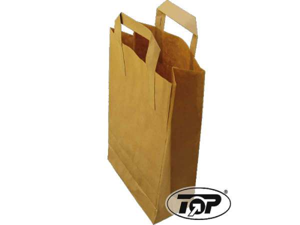 Papiertragetaschen braun 26+10x36 cm