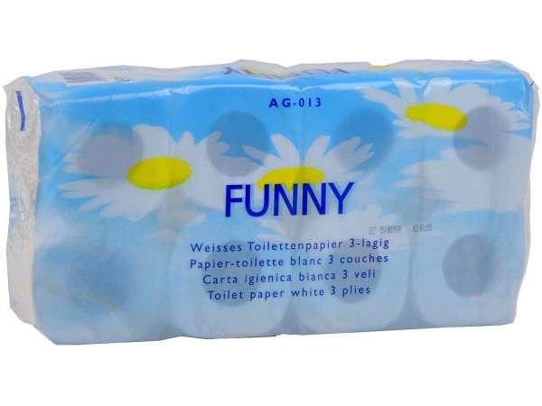 Toilettenpapier 3-lagig hochweiss 150 Blatt/Rolle