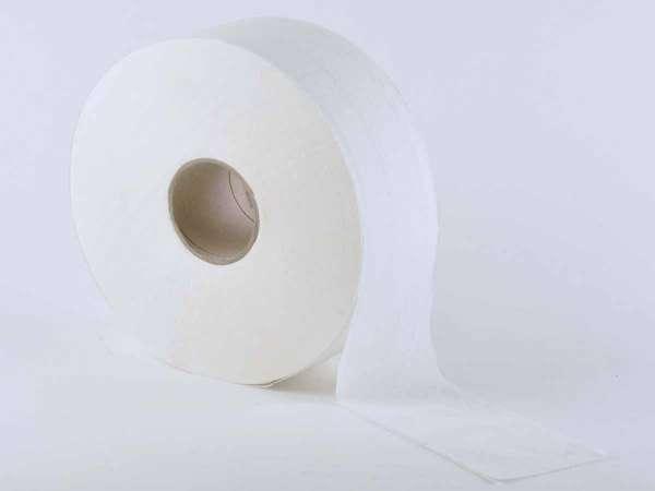 Jumbo-Toilettenpapier 2-lagig hochweiss ø 25 cm