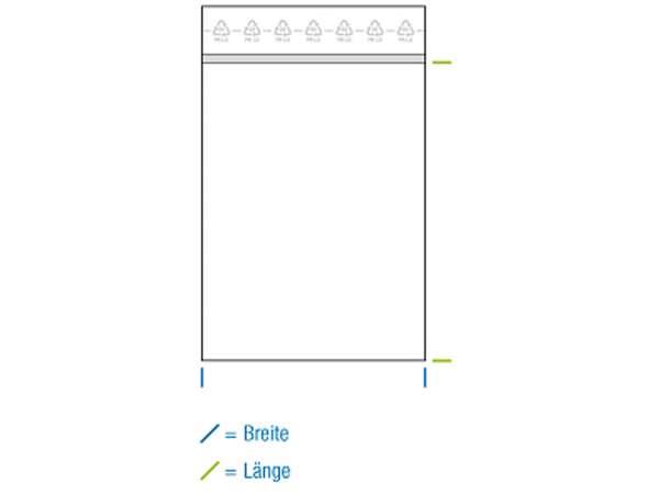 Druckverschlussbeutel LDPE 100x220 mm