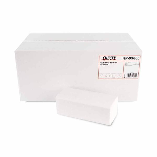Papierhandtücher 2-lagig Recyclingpapier weiss ZZ/V-Falz