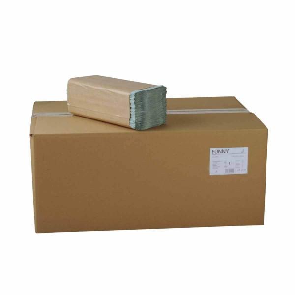 Papierhandtücher 1-lagig ZZ/V-Falz grün