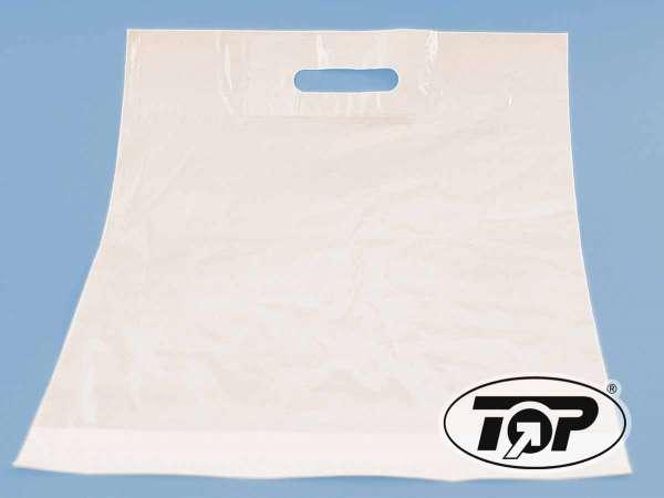 Plastiktüten LDPE-Grifflochtaschen weiß 38+45x5 cm