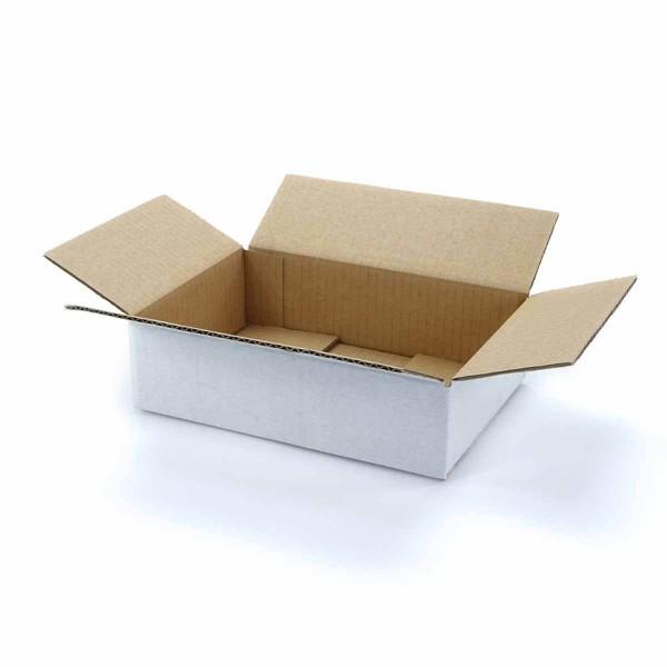 Faltkartons 215x150x55 mm 1-wellig weiß