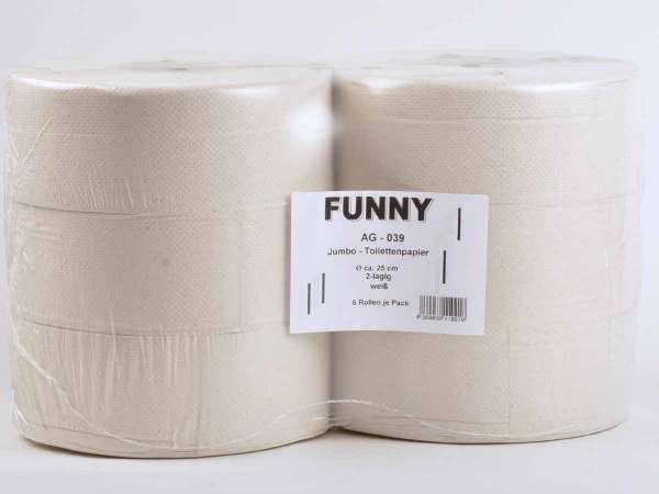 Jumbo-Toilettenpapier 2-lagig hellgrau recycling ø 25 cm