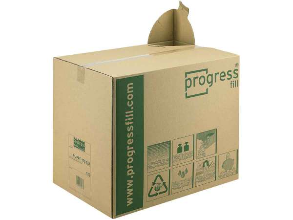 Verpackungschips progressFILL® im Spendekarton