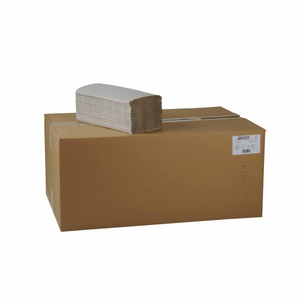 Papierhandtücher 1-lagig ZZ/V-Falz hellgrau