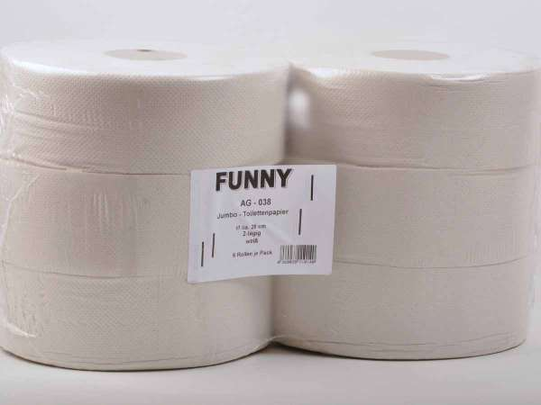 Jumbo-Toilettenpapier 2-lagig hellgrau recycling ø 28 cm