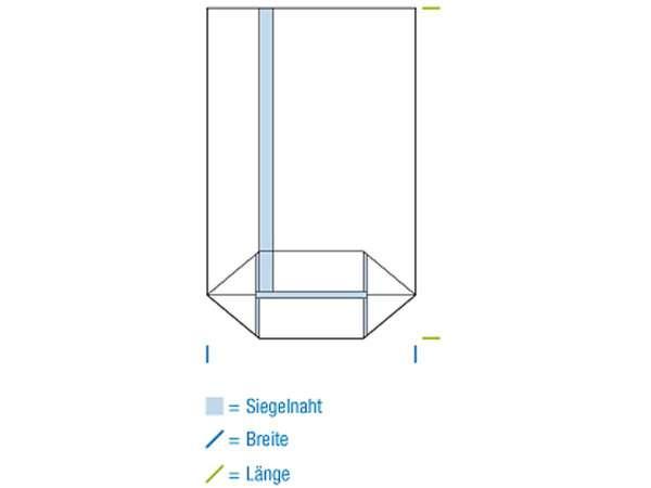 Kreuzbodenbeutel OPP 145x300 mm