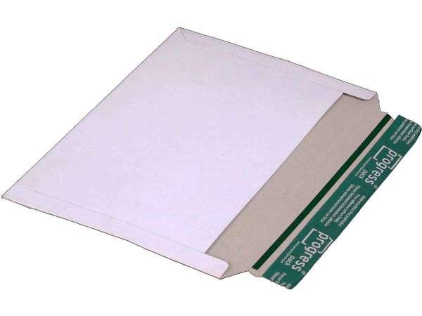 Versandtasche Vollpappe weiß 320x225 mm