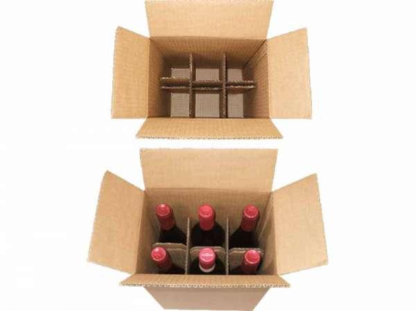 Flaschenkartons 6er 235x160x330 mm
