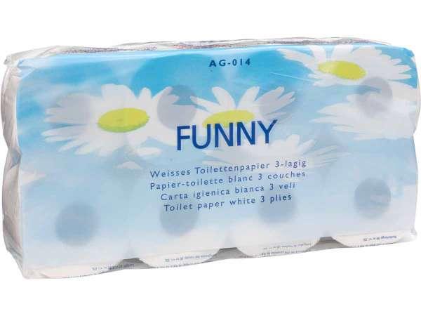 Toilettenpapier 3-lagig hochweiss 250 Blatt/Rolle
