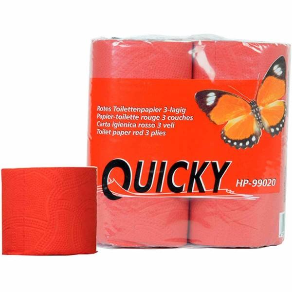 Toilettenpapier 3-lagig rot 120 Blatt/Rolle